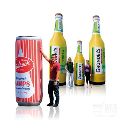 Ilmarunkoiset mainostölkit ja -pullot