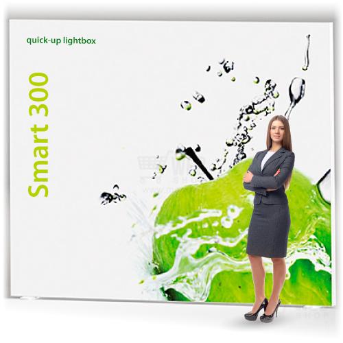 Quick-Up Lightbox – taustavalaistut messuseinät