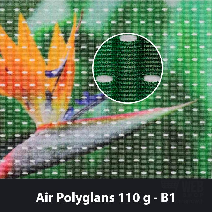 Air Polyglans 110g tuulta läpäisevä lippukangas.