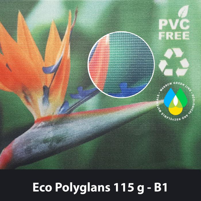 Eco Polyglans 115g Ekologinen lippukangas.