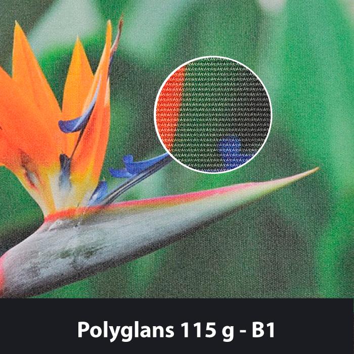 Polyglans 115g B1 palosuojattu lippukangas.